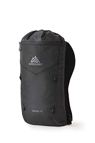 Gregory Mountain Products Nano 14 Everyday Outdoor Backpack, Obsidian Black, one Size