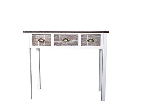 Elbmöbel consoletafel 3 laden houten console dressoir opbergtafel landhuisstijl