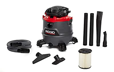 Ridgid 62723 Red 16 gallon RT1600 Wet/Dry Vacuum, Dark Gray and Red