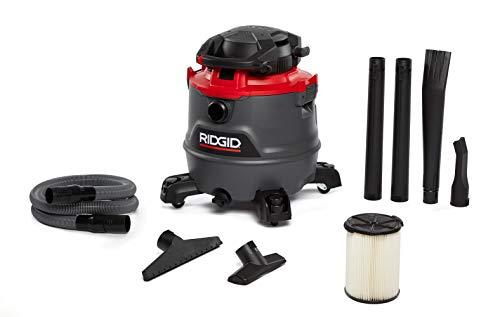Ridgid 62723 Red 16 gallon RT1600 Wet/Dry Vacuum, Dark Gray and Red