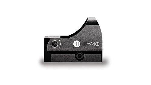 Hawke Mikroreflexvisier 5 MOA Zielpunkt Rotpunktvisier, schwarz, M