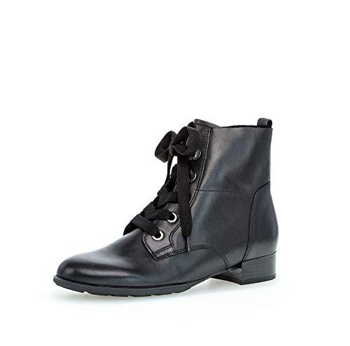 Gabor Botines con cordones para mujer, botines con cordones, plantilla intercambiable, mejor ajuste, color Negro, talla 42 EU