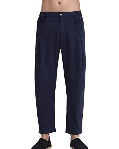 Pantalones de Kungfu Chinos Artes Marciales Pantalones de Entrenamiento para Hombre Pantalones de Tai Chi