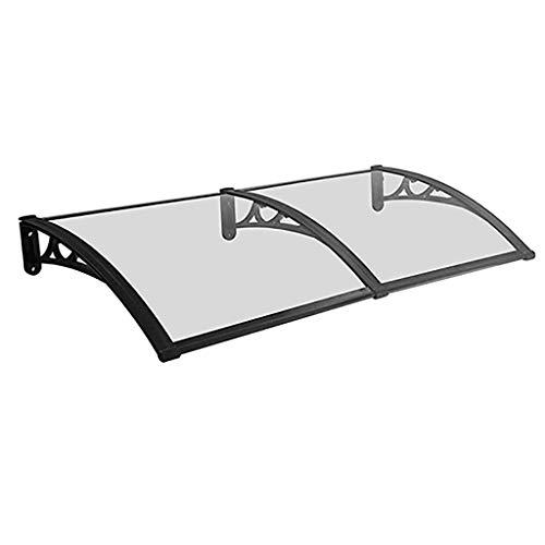 WXQIANG Türvordach PC Polycarbonat Markise Regen Shelter Tür Canopy Markise Fenster Regen Schutz-Abdeckung for Fronttür Porch - 3 Größen (Size : 80 * 160cm)