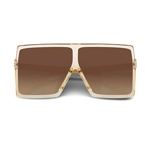 CHAUOO Ultralight Square Oversized Sunglasses Classic Fashion Style 100% UV Protection for Women Men