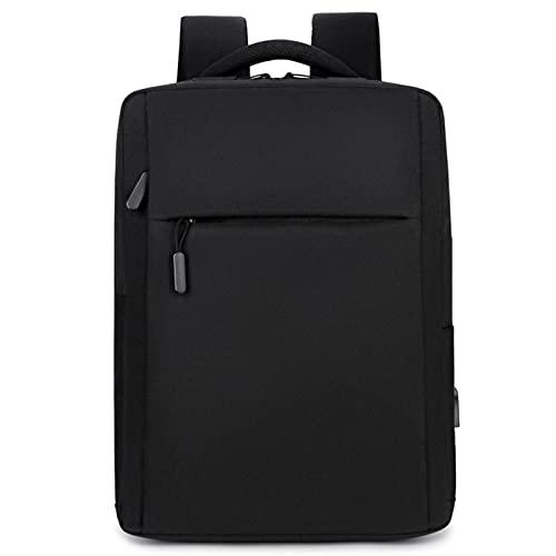 Mochila de negócios personalizada masculina multifuncional mochila de viagem simples bolsa de computador livro, Preto, As the picture shows