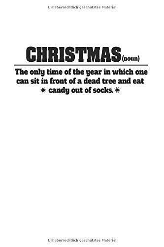 Notizbuch: Anti Weihnachten Synonym Ugly Christmas Geschenke 120 Seiten, 6X9 (Ca. A5), Liniert