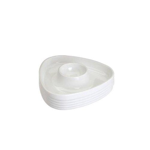 Westmark 20702241 Eierbecher dreieckig Tri 6 Stück aus SAN/PS, weiß