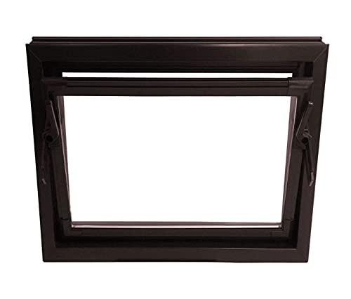 ACO 60cm Nebenraumfenster Kippfenster Einfachglas Fenster braun Kunststofffenster, Größe:60 x 40 cm