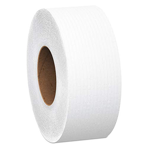 Scott Essential Jumbo Roll (JR) Commercial Toilet Paper (07223), 1-PLY, White, 12 Rolls / Case, 2,000' / Roll
