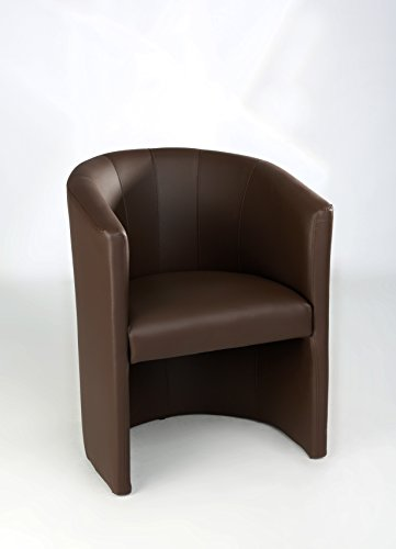 H&S Design Cocktailsessel Sessel Clubsessel Loungesessel Club Möbel Bürosessel Praxismöbel braun