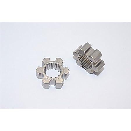 2Pcs Gray Silver 10mm Thickness Traxxas X Maxx 4X4 Upgrade Parts Aluminum Wheel Hex