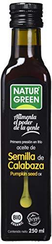 NaturGreen - Aceite Calabaza Bio, 100% Aceite de Semillas de Calabaza Ecológica, Primera Presión - 250 ml