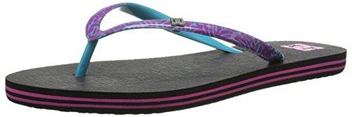 DC Shoes Damen Spray Se Zehentrenner, Schwarz (Black/Purple), 38 EU