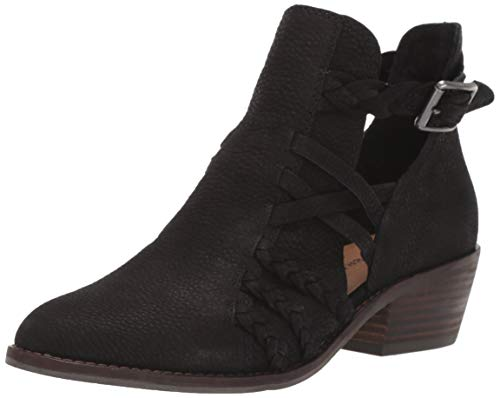 Lucky Brand Women's FORBAS HIGH Heel Ankle Boot, Black, 8.5 M US
