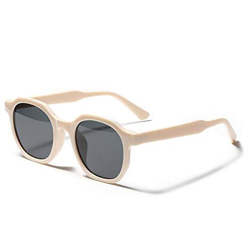 ZZOW Gafas De Sol Cuadradas De Moda para Mujer, Montura De Gafas Vintage con Tendencia, Gafas De Té Beige Claro, Gafas De Sol para Hombre, Gafas De Sol Uv400
