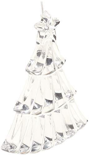 Crystaljulia 04722 - Albero di Natale in Cristallo al Piombo, 7 cm, Colore: Trasparente