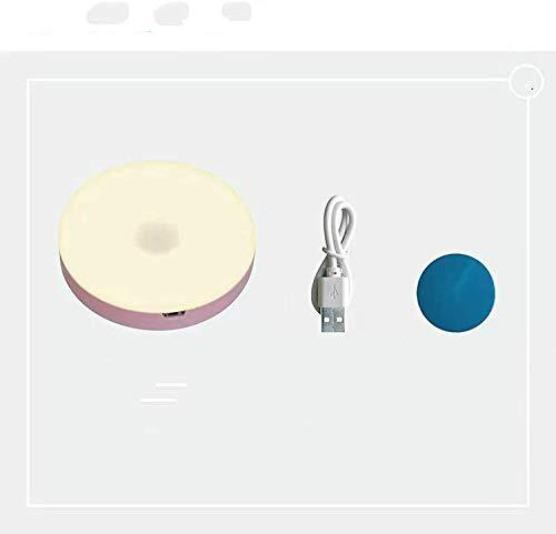 CHSYWH Luz de Noche Recargable LED con Sensor de Cuerpo Humano, luz de Sensor de Cuerpo LED de Ahorro de energía inalámbrica, luz de Noche para Dormitorio y baño