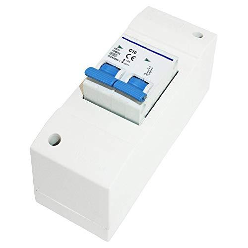 HABA Sicherungs-Schutzautomat Netzsicherung 230V Anlage Caravan Reisemobil Schalter Camping weiß