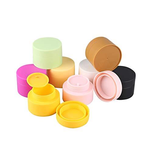 Sungpunet 5pcs Maquillage cosmétique vide Récipient en plastique Pot échantillon Pot Container Crème ronde avec bouchon à vis pour couvercle Ombre à paupières 30g couleur aléatoire