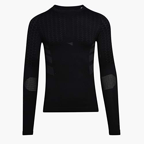 Diadora Maglia Termica Manica Lunga Hidden Power SS T Shirt Act (L/XL, Black)