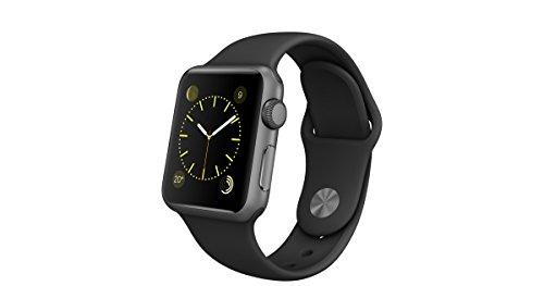 Apple MJ2X2FD/A Watch Sport 38mm, Grigio Siderale con cinturino Nero