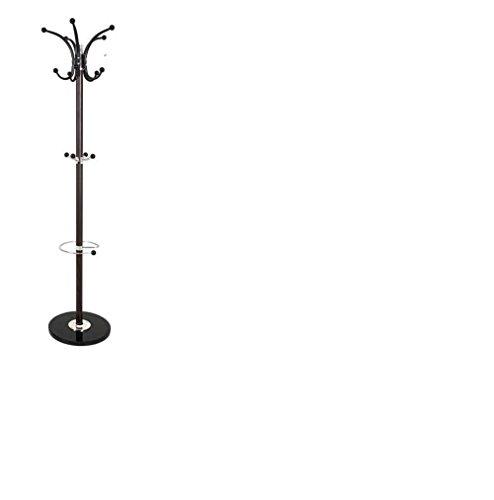 Haku Möbel 88892 kapstok, staal/marmer, verchroomd, 171 cm, donkerbruin