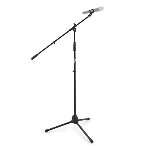 Tiger Music Mca 68 Bk Supporto Microfono Con Giraffa e Morsetto, Nero