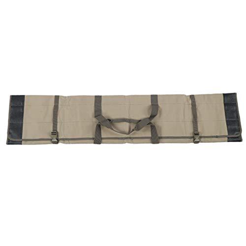 Bolsa de caña Estuche de transporte de varilla Bolsa de tela Oxford de alta calidad Bolsa de poste de 1,3 M para pescar para pesca de agua dulce(Khaki)