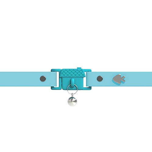 Visto en Vogue. Collar para Gato Aqua de Kittyrama. Galardonado 'Cat Friendly'