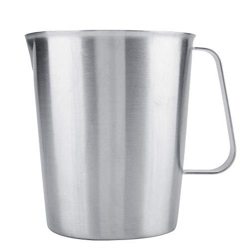 Roestvrij Staal Meten Cups - 2000 Ml Grote Maatbekers, Schalen Maatbeker, Opschuimen Van Melk Werper Cup Voor Latte Art,Silver