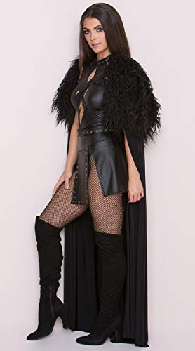 Yandy Black Medium Premium Sexy Northern Queen Medieval Halloween Warrior Cosplay Costume