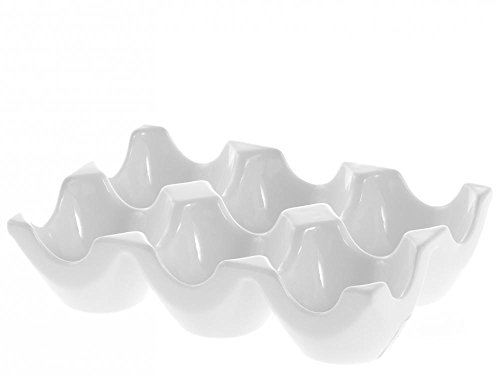 H&H Coquetier, Porcelaine, Blanc, 15 x 10 x 4 cm