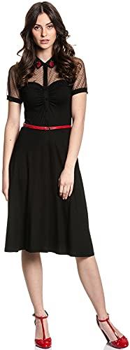 Vive Maria British Black Dress Black, Größe:XXL