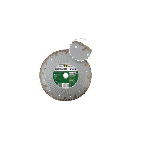 Flexovit 70184623409 diamantschijf voor haakse slijper, sokkel aluminium, 230 mm D x 9 mm L x 3,0 mm E x 22,23 mm