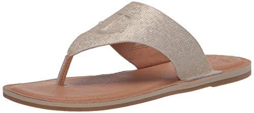Sperry Women's Seaport Thong Metallic Leather Sandal, Platinum, 9.5 Medium