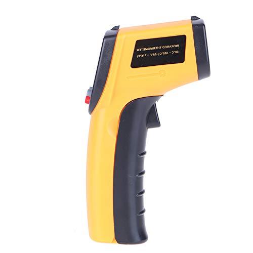 KKmoon Digitales Infrarot Thermometer -50~380 ° C berührungslos Temperaturmessgerät Temperaturmesser mit LCD Beleuchtung Grau