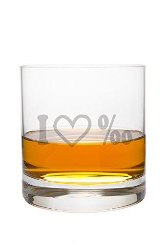 FORYOU24 Whiskeyglas Leonardo mit Gravur Love Spruch-Whisky-Glas graviert Geschenkidee