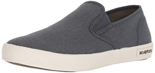SeaVees Men's Baja Slip On Standard Casual Sneaker, Slate Navy, 12