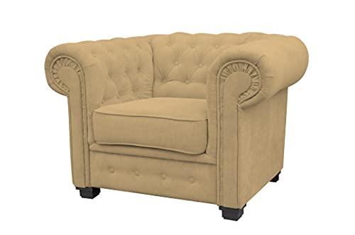 Sofá Imperial Corner, estilo Chesterfield, 2 plazas, 3 plazas, (dorado, chaise longue)