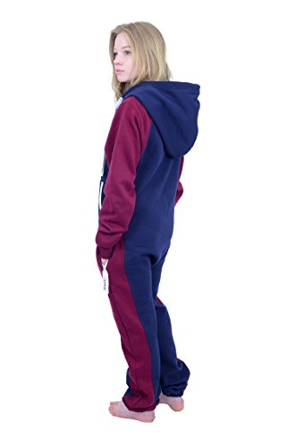 The Classic Unisex Onesie in Inky Blue and Maroon Sides - 2