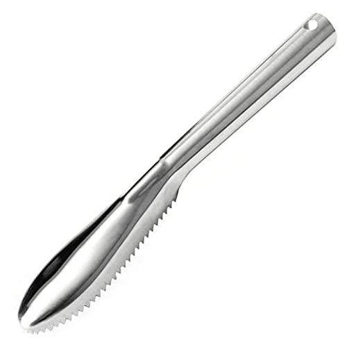 TOSSPER Escala De Peces Raspador, Útiles De Limpieza para La Cocina Chef Cocineros Inicio Gadget Piel del Acero Inoxidable Peces Removedor Peeler