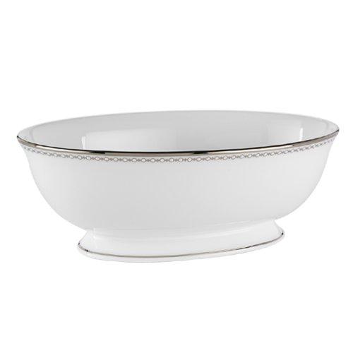 Lenox 6111314 Pearl Platinum Open Vegetable Bowl, White