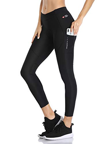 Santic Women Premium 3D Padded Breathable Long Cycling Tights Black