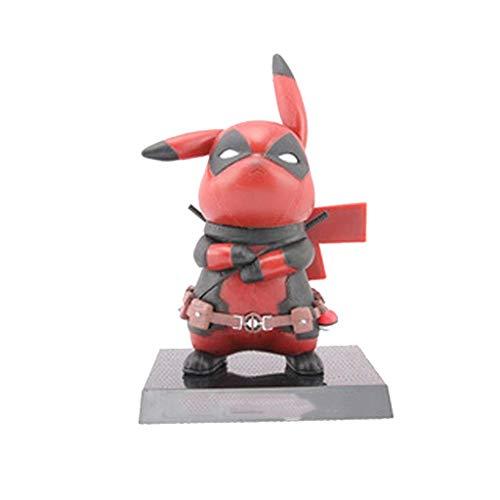 Pikachu Deadpool Cosplay PVC Action-Figur Statuen Modell Spielzeug Weihnachten Geschenke