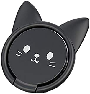 Nuokix Cute Kitten Mobile Phone Bracket Ring Buckle Lazy Mobile Phone holder Ring Buckle Bracket For for IPhone for Huawei...