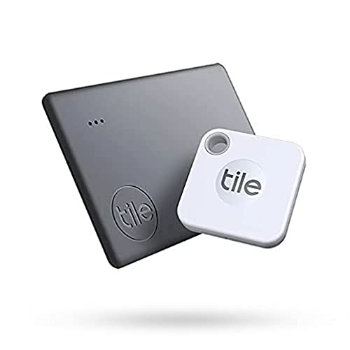 Tile Starter Pack (2020) 2-pack (1 Mate, 1 Slim) - Bluetooth Tracker, Item Locator & Finder for Keys and Wallets or Backpacks and Tablets; Easily Find All Your Things