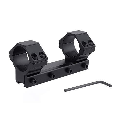 FOCUHUNTER Aluminium Taktisch Niedriges Profil 30mm Umfang Rings 11mm Weaver/Picatinny Ringe Montieren Adapter für Zielfernrohr