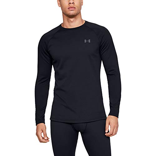 Under Armour Men's Packaged Base 3.0 Crew, Black (001)/Pitch Gray, Large