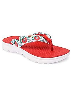 KazarMax Red Red Blossom Stylish/Super Soft/Ultra-Light/Slipper For Women
